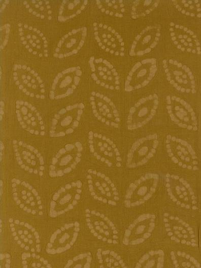 Cotton Embossed: Leaves on Gold