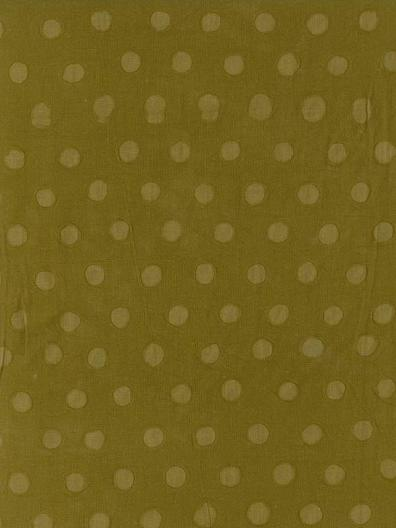 Cotton Embossed: Small Spots on Khaki