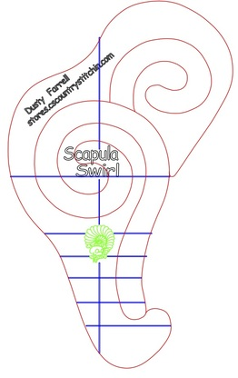 Mini Scapula Swirl Template