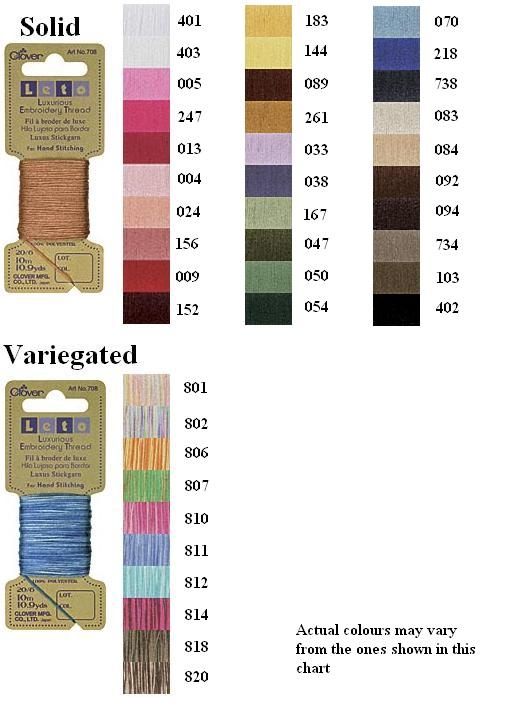 Leto Embroidery Thread Variegated Colour 801 (10m)