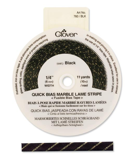 Quick Bias 6mm Tape Marble Stripe Black (10m)