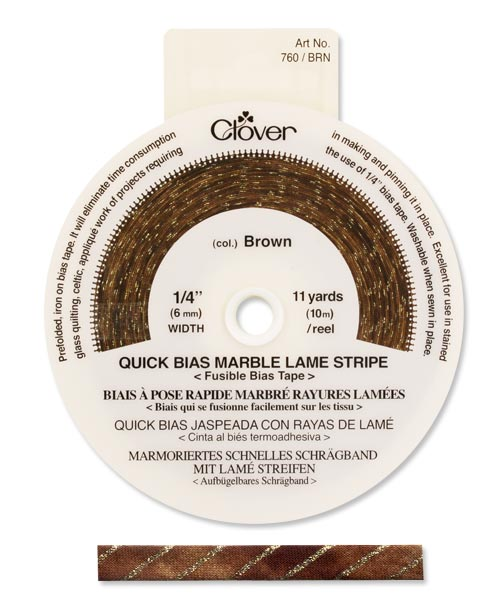 Quick Bias 6mm Tape Marble Stripe Brown (10m)
