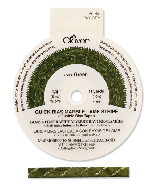 Quick Bias 6mm Tape Marble Stripe Green (10m)