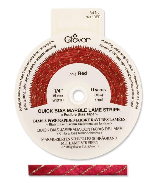 Quick Bias 6mm Tape Marble Stripe Red (10m)