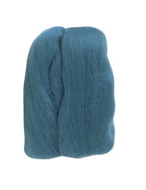Natural Wool Roving - Teal