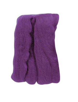 Natural Wool Roving - Violet