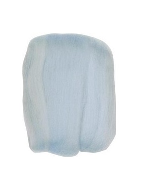 Natural Wool Roving - Light Blue